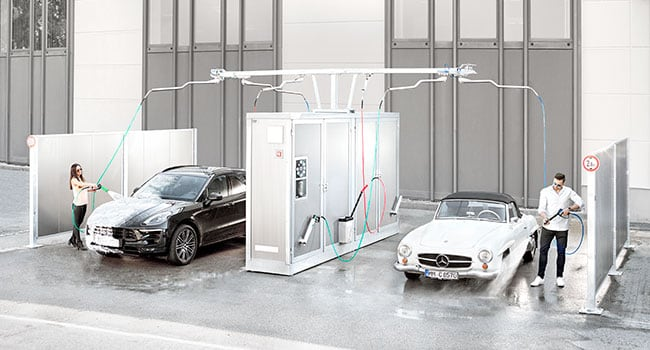 COMPACT self-service car wash