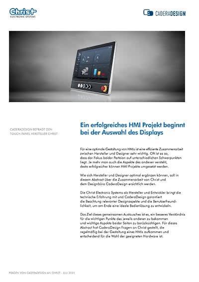 Zusammenarbeit zwischen Touch Panel Entwicklung und Desginbüro