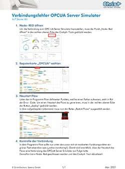 Fehler OPCUA Simulator IIoT Starter Kit