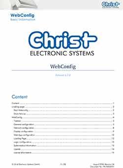 WebConfig Bedienungsanleitung
