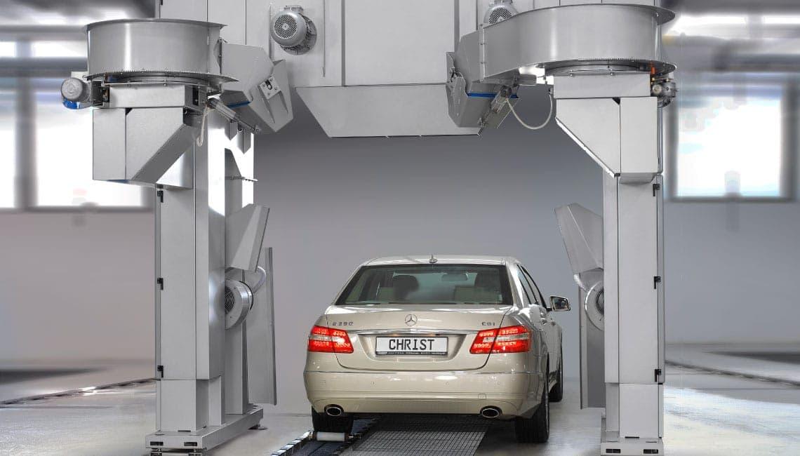 Christ Trocknungszone 2 Spalatorie automata tip tunel   DRYING ZONE   Christ - Unilift Spalatorie automata tip tunel